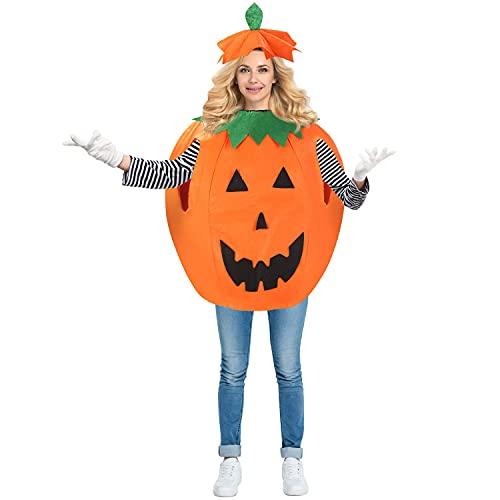 Halloween Pumpkin Costumes for Adult - Unisex Fancy Dress,Cute Pumpkin...