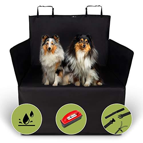 Jeff Wetnooze 2in1 Hundedecke Kofferraum [2020 Version] mit Spezialbürste,wasserdichter Kofferraumschutz für Hunde, Kofferraumdecke mit Seitenschutz