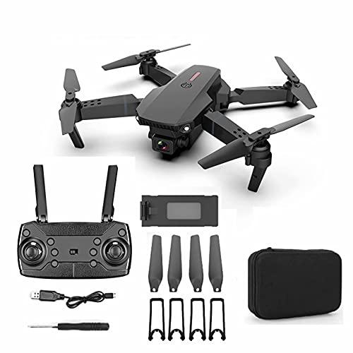 Drone RC con videocamera HD 4K - tempo di volo 15 minuti, kit mini drone per trasmissione live FPV con doppia fotocamera WiFi con gimbal, con funzione Follow Me per principianti
