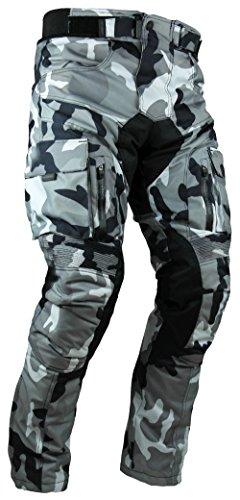 HEYBERRY Sportliche Motorrad Hose Motorradhose Camouflage Weiß Gr. M