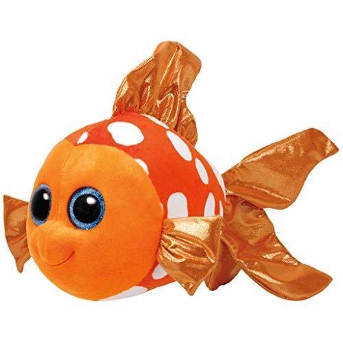 TY Sami Fish 37146 Clownfisch mit Glitzeraugen, Mehrfarbig
