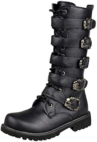 Snow Boots Flat Boots Mens Low Heel Lace Up Westerm Combat Motorcycle Boots product image