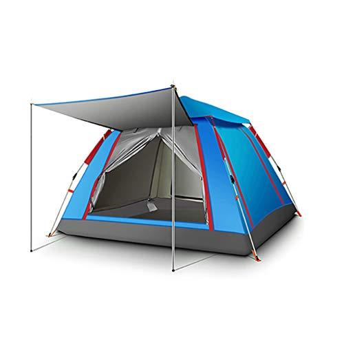 YILANJUN Campingzelt Im Freien, Familienzelt, Grün/Blau Geräumiges Zelt, 215 × 215 × 140 cm (3-4 Personen) / 240 × 240 × 154 cm (5-6 Personen)