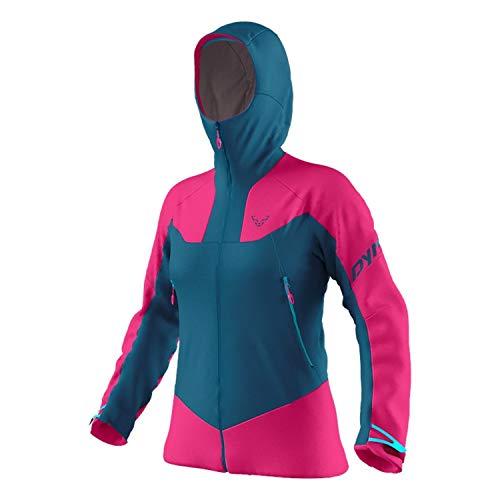 DYNAFIT W Radical 2 Gore-Tex Jacket Colorblock-Blau-Pink, Damen Gore-Tex Regenjacke, Größe M - Farbe Flamingo