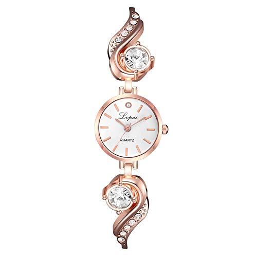 Damen Persönlichkeit Paar Uhr Analoge Quarzuhr Edelstahl Armband Neujahrsgeschenk Freizeituhr Diamant Exquisite Einfache Mode Uhr Armband Geburtstagsgeschenk