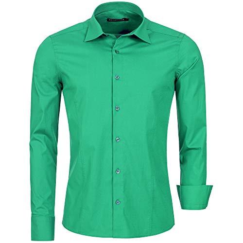 Redbridge R-2111, Camicia casual Uomo, Verde (Green 041), S