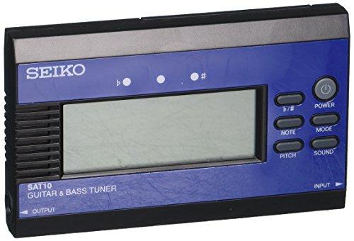 Seiko SAT10LE Guitar/Bass Tuner - Blue