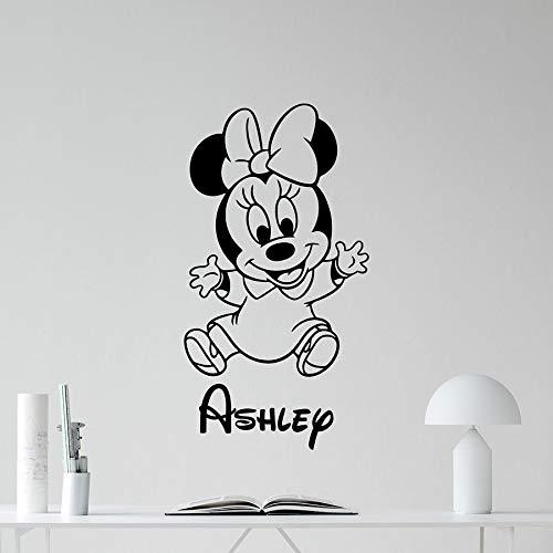 Pegatinas de pared de ratón creativas personalidad kindergarten vinilo pegatinas de pared niños niñas dormitorio decoración del hogar niños regalo murales