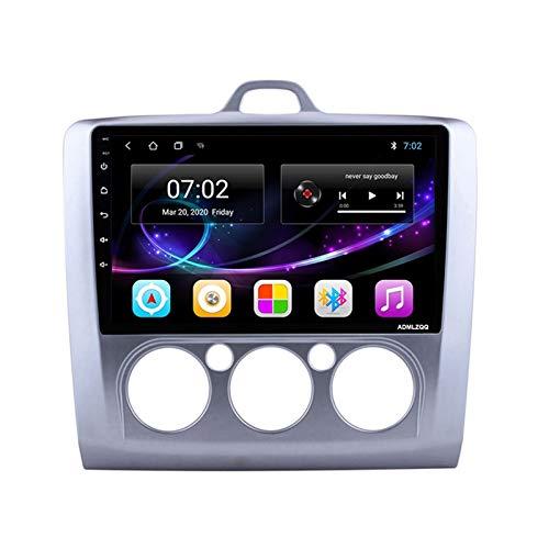 ADMLZQQ para Ford Focus 2006-2014 Android 10.0 Radio Coche Estéreo, Navegación GPS con Pantalla Táctil De 9 Pulgadas, FM/RDS/Bluetooth/Cámara De Visión Trasera,Mode 2,8core 4G+WiFi: 4+64G