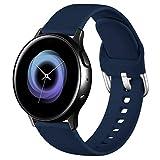 Wepro Correa Compatible con Samsung Galaxy Watch Active/Active2 40mm 44mm, Correa de Repuesto de Silicona Suave para Samsung Galaxy Watch 42mm/Watch 3 41mm/Gear Sport, Pequeño Mar Azul
