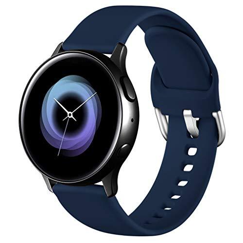 Wepro Correa Compatible con Samsung Galaxy Watch Active/Active2 40mm 44mm, Correa de Repuesto de Silicona Suave para Samsung Galaxy Watch 42mm/Watch 3 41mm/Gear Sport, Grande Mar Azul