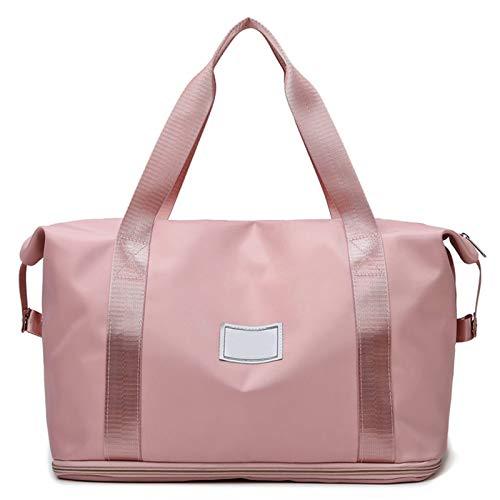 Zhantie Bolsa de viaje de gran capacidad, impermeable, expandible, bolsa deportiva de moda multifuncional