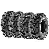 Set of 4 SunF A050 27x9-14 Front & 27x11-14 Rear Deep Mud + Trail ATV UTV Off-Road Tires, 6PR, Tubeless