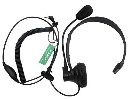 SUNDELY Over-Head Earpiece Headset Boom Mic PTT-VOX Switch for Cobra Micro-Talk 2 Way Radio Walkie Talkie MT600 PR3180 CXT545 1-pin