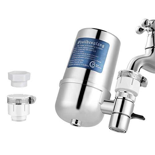 YOUTHINK Filtro de Agua para Grifo Purificador de Agua Eliminar Nocivo Elimina Impurezas Blanqueador de Cloro Bacterias Virus para Una Fácil Instalación Se Adapta a Todos los Grifos Estándar