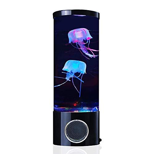 SHENMU Lámpara de Lava de Medusas con Altavoz Bluetooth, 7 Colores Que cambian USB Luz de Noche de Tanque de Medusas eléctrica, Regalo de luz de Humor de Acuario Realista para
