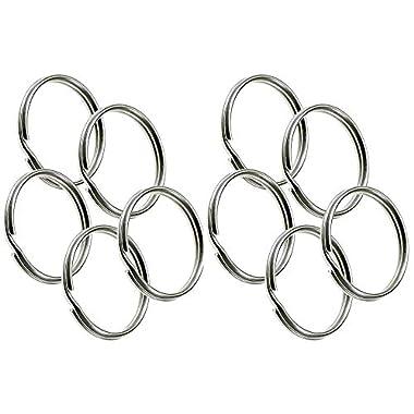 Lucky Line 3 inch Nickel-Plated Tempered Steel Split Rings, 10 per Package (7910010)
