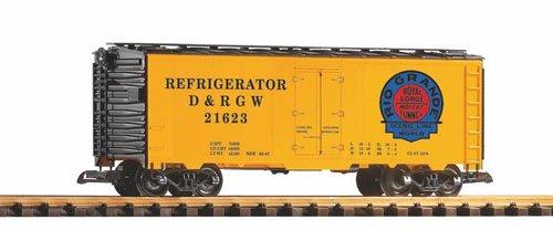 PIKO G SCALE MODEL TRAINS - D&RGW STEEL REEFER 21623 MOFFAT LOGO - 38826
