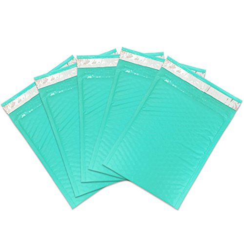 "Beauticom TEAL (30 Pieces) #0, 6x10 Self-Seal Poly Bubble Mailer 6.25"" x 9 1/4"""