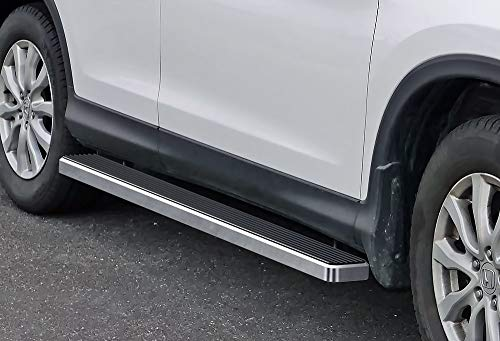 APS iBoard Running Boards (Nerf Bars Side Steps Step Bars) Compatible with 2007-2016 Honda CRV (Silver 5 inches)