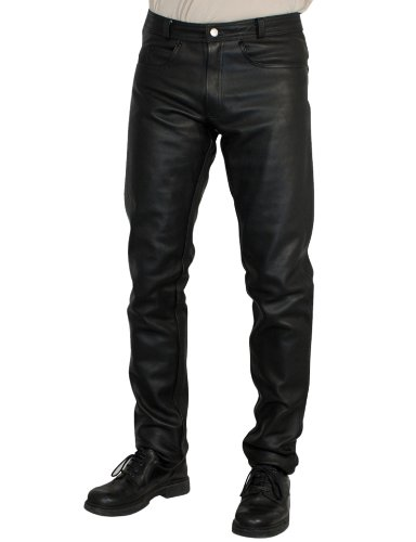 Roleff Racewear Pantaloni in Pelle, Nero, 54
