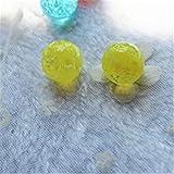 TtTt Bola de cristal de 16 mm, color crema, pequeñas canicas, cuentas para consola de juegos de pinball (color: 2 unidades amarillas)