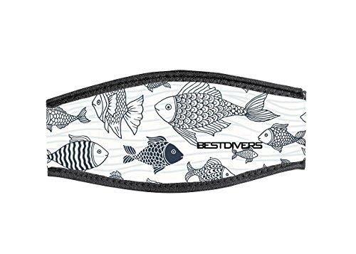 Best divers Correa Máscara de Neopreno, Doble Velcro, Branco