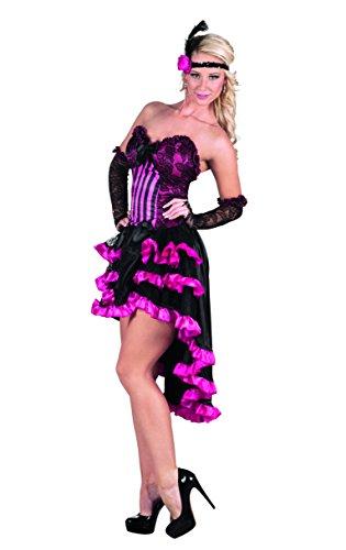 Boland- Ragazza Saloon Can Rose Costume Donna per Adulti, Rosa/Nero, S (36/38), 83627