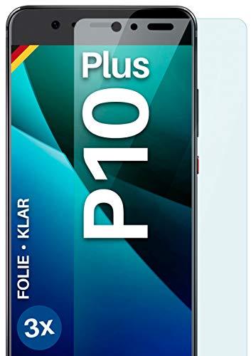moex Protector de pantalla transparente compatible con Huawei P10 Plus – Protector de pantalla transparente, protector de pantalla HD, fino resistente a los arañazos, 3 unidades