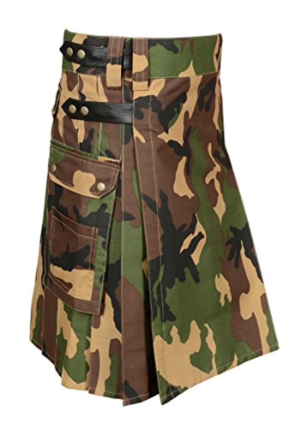 Scottish Camouflage Utility Kilt For Men