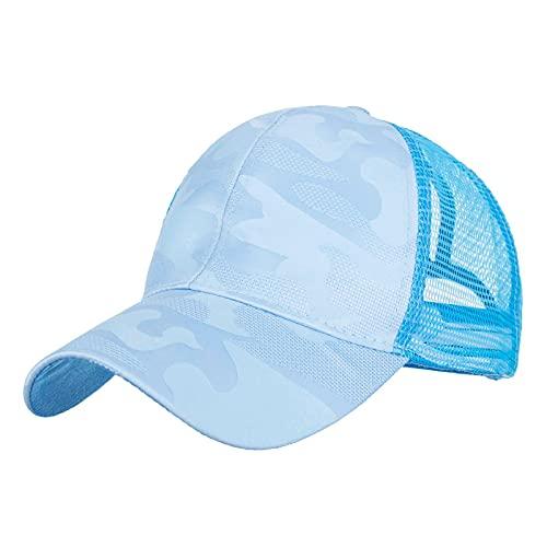 KGMO Nuevas Gorras De Béisbol De Camuflaje para Hombre, Sombrero Al Aire Libre, Sombreros Casquette, Sombrero De Hip Hop, Azul