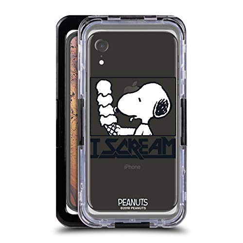 Head Case Designs Offizielle Peanuts Snoopy I Scream Rock T-Shirts Schwarze wasserfeste Huelle kompatibel mit Apple iPhone XR