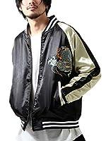 [ ジップ セレクト ] ZIP Select スカジャン 刺繍 sk17003 11龍ブラック L