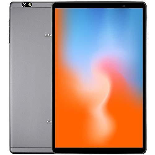 LNMBBS P40- EEA Tablet 10 Pulgadas ,  Android 10.0,  Octa- Core,  Desbloqueo Facial,  1920*1200 IPS,  64GB ROM y 4GB de RAM,  13MP y 5MP Cámara,  Wi- Fi + LTE,  GPS,  Bluetooth 5.0,  Gris