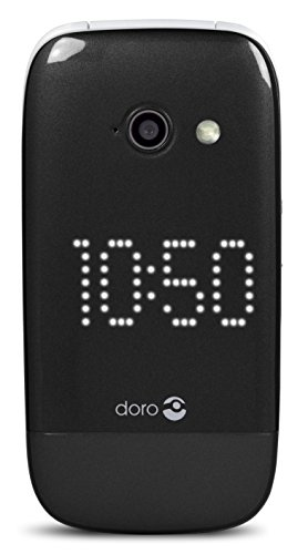 Doro PhoneEasy 632 Elegantes Klappdesign Großtastenhandy (2 Megapixel Kamera, 3G, GPS, Bluetooth) schwarz
