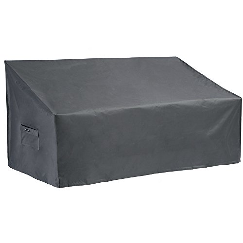 Patio Watcher Medium Outdoor Loveseat Bench Cover, Durable and Waterproof Patio Furniture Sofa Cover, Grey