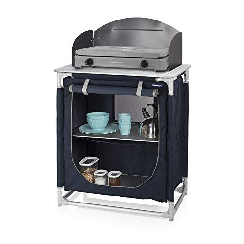 CAMPART Travel KI-0752 Cocina de camping Valencia, Con paravientos, Bolsa de almacenamiento...
