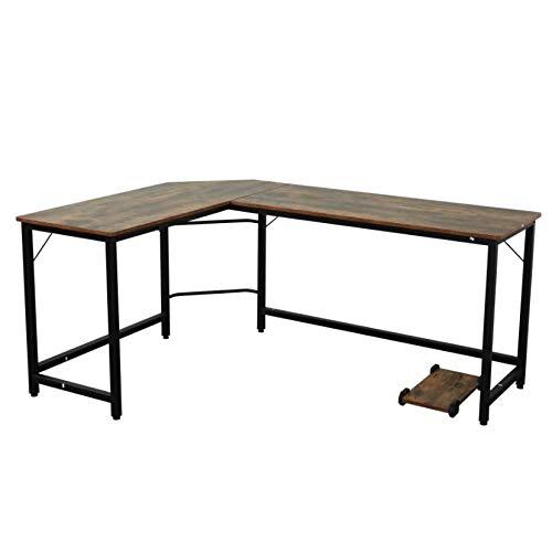 ZMRRXR Escritorio esquinero L escritorio para computadora de escritorio, 53 x 23.6 x 15.5 cm