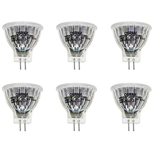 OSRAM LED STAR GLAS MR11 GU4 4W=35W 345lm 36° warm white 2700K nodim A+ 6er-Pack
