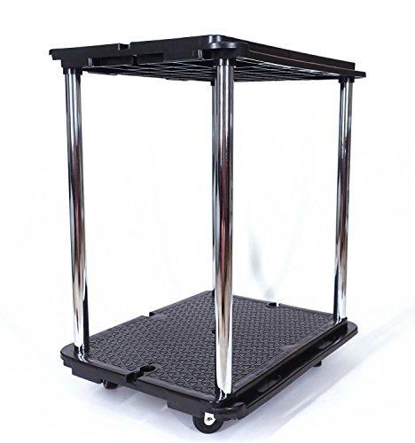 LapWorks Link-It Utility Cart, Heavy Duty, 350 Pound, Modular, Multipurpose Rolling Cart (2 Tier)