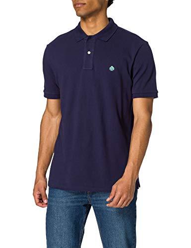 Springfield Polo básico Camiseta, Azul Medio, M para Hombre