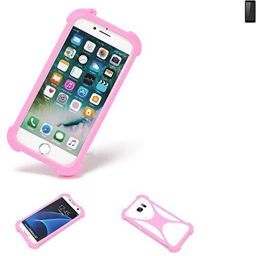 K-S-Trade® Handyhülle Für Ruggear RG850 Schutzhülle Bumper Silikon Schutz Hülle Cover Case Silikoncase Silikonbumper TPU Softcase Smartphone, Pink (1x)