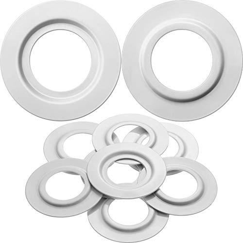 Anilla Reductor de Pantalla de Lámpara de Metal Blanca para Ajuste de Luz de Placa de ES/E27 a BC/B22 Convertidor Adaptador Arandelas de Pantalla de Lámpara (8)