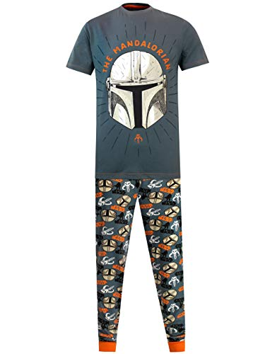 Star Wars Pijamas para Hombre The Mandalorian Multicolor Medium
