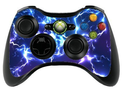Blue Electric Xbox 360 Remote Controller/Gamepad Skin / Vinyl Cover / Vinyl xbr22 from the grafix studio