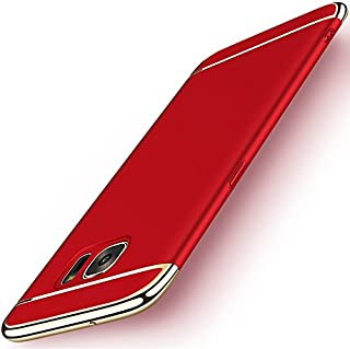 Galaxy S7 Edge Case, NAISU Galaxy S7 Edge Back Cover, Ultra Slim & Rugged Fit Shock Drop Proof Impact Resist Protective Case, 3 in 1 Hard Case for Samsung Galaxy S7 Edge - Red