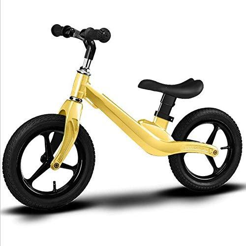 WEYQ Kinder Balance Bike Fahrrad für 1,5-5 Jahre Alten Jungen und Mädchen Luftfahrt Magnesiumlegierung ist solide und bequem Dämpfung aufblasbare Kleinkind Push Bike mehrere Farben,C