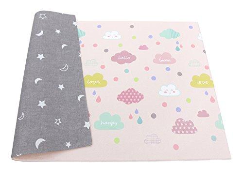 Happy Cloud Tapis de jeu pour bébé 1,85 m x 1,25 m x 12 mm