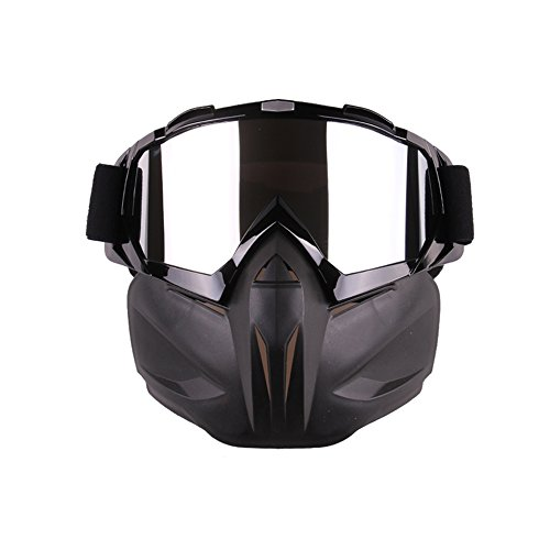 Eoncore Motorcycle Goggles Mask Detachable, Windproof Protect Padding Helmet Sunglasses Ski Goggles...