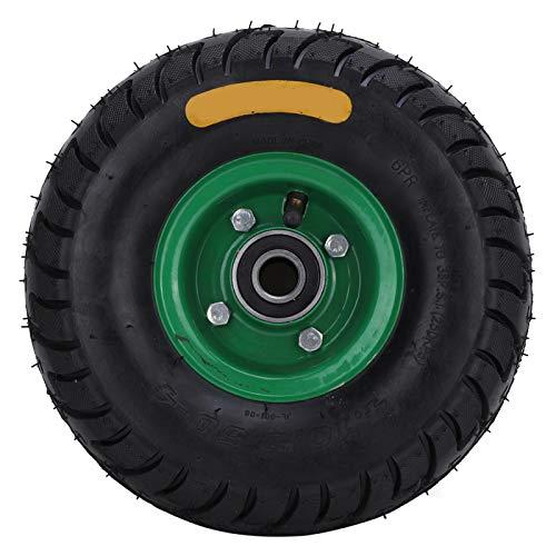 6204-2RS Neumático inflable para camión, 10.5in 4.10/3.50-4 Rodamiento incorporado Rueda de neumático para carrito de herramientas inflable de goma
